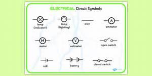 Electricity Circuit Symbols Word Bank