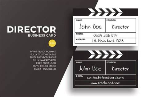director business card designs templates psd ai indesign  word  premium