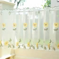 popular sunflower valance kitchen curtains buy cheap sunflower valance kitchen curtains lots