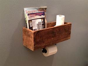 DIY #magazine rack & toilet paper dispenser. Very clever ...