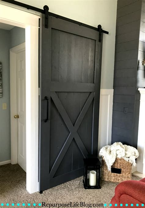 barn sliding door how to make your own sliding barn door repurpose