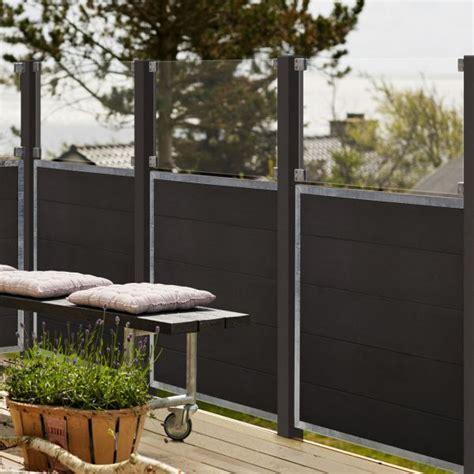 Sichtschutz Garten Anthrazit by Wpc Sichtschutz Zaun Futur Glas Anthrazit