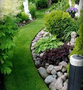 clean of lawn rock garden ideas with green grass as With charming entree de maison exterieur 11 comment amenager un long couloir