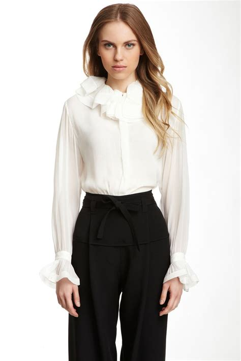 ruffled blouses 17 best images about beautiful blouses on