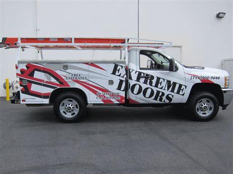 utility truck graphic wrap bellflower ca