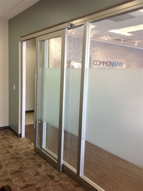 glass office walls  sliding door  nello