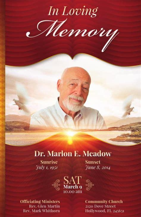 loving memory funeral program template book  michael
