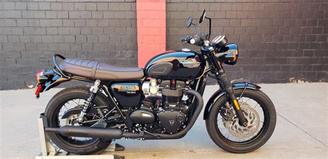 Triumph Bonneville T120 Modification by New 2019 Triumph Bonneville T120 Black Motorcycle In