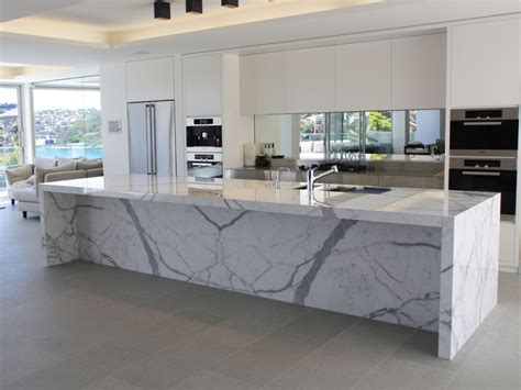 glass waterfall wall choosing the right marble calacatta or carrara steam