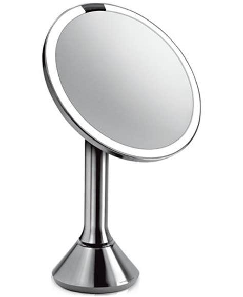 simplehuman vanity mirror simplehuman lighted sensor activated magnifying vanity