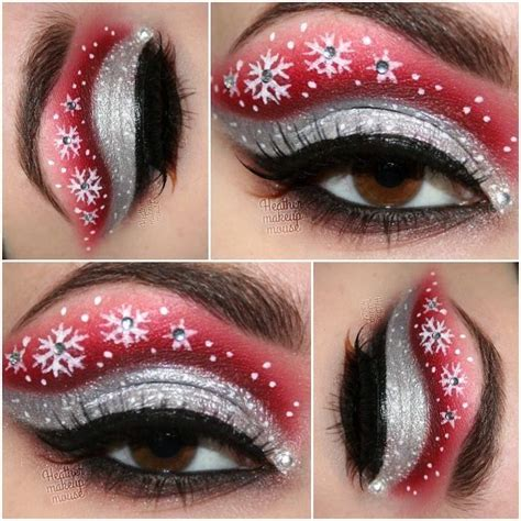 cute eye makeup ideas for christmas make up inspiration