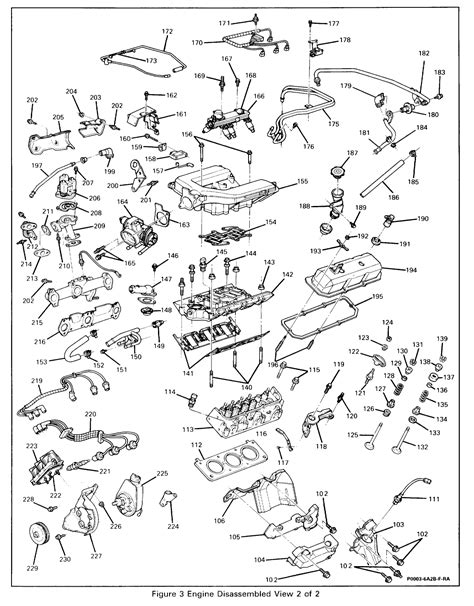 92 Grand Am Engine Diagram by 3 4l Engine Numbered Breakdown Diagram V6 F