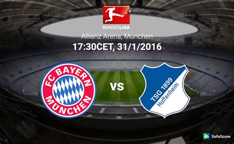 Return to this page a few days before the scheduled game when this expired prediction will be updated with our full preview and tips for the next match between. Bayern München vs 1899 Hoffenheim - Match preview & Live ...