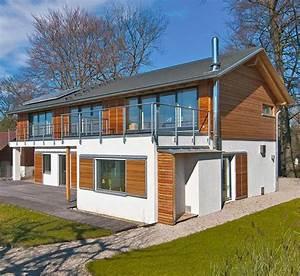 Haus Mit Holz : anbau hauserweiterung haede von baufritz ~ Frokenaadalensverden.com Haus und Dekorationen