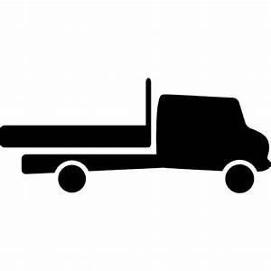 Truck silhouette facing the left direction Icons | Free ...