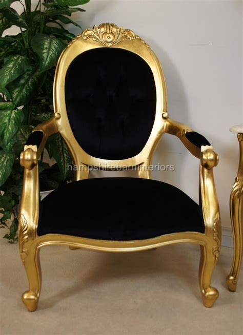 a chatsworth arm throne chair in gold leaf finish and