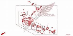 Throttle Body  Nps508  9  For Honda Cbr 125 White 2015