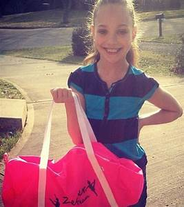 Maddie with her Ziegler Team Dance bag | Dance Moms ...