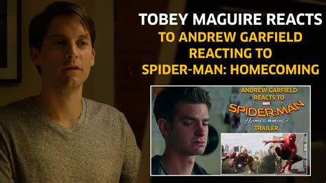tobey maguire reacts  andrew garfield reacting  spider