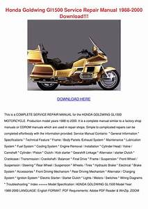 Honda Goldwing Gl1500 Service Repair Manual 1 By Kera