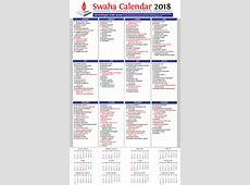 Calendar 2018 – SWAHA International