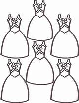 Coloring Pages Dress Dresses Cute Shoes Cartoon Ballerina Printable Doll Clipart Cliparts Clothes Worksheet Designing Library Popular Clip Coloringhome Getdrawings sketch template