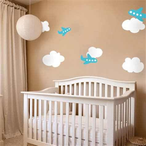 At pine & poem will sell custom home decor, nursery art, and gifts, using the footprints, handprints. Airplanes With Clouds Decor - Nursery Decor - by Simple Shapes