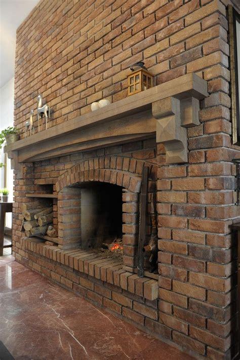 big brick fireplace mountain homes brick fireplace