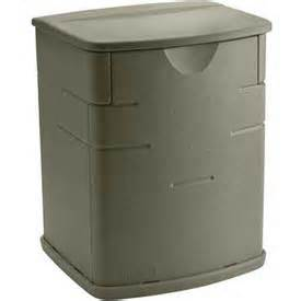 bins totes containers containers deck boxes rubbermaid 3743 outdoor mini deck box 2 6