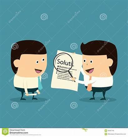 Solution Problem Management Businessman Cartoon During Oplossing