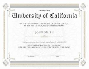 11 free printable degree certificates templates With phd diploma template