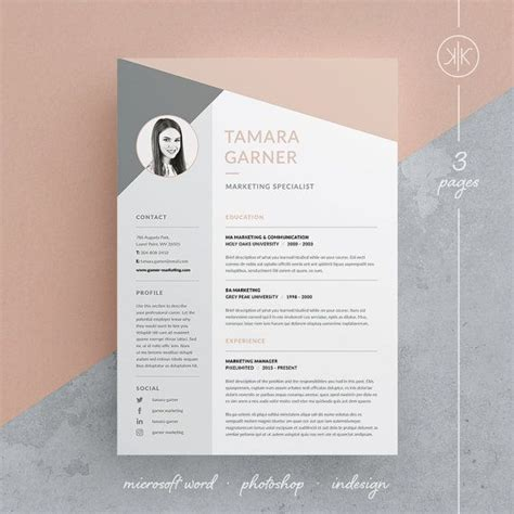 Graphic Design Resume Template Indesign by 25 Best Ideas About Professional Resume Design On