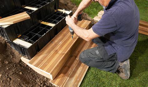 faire un escalier exterieur en bois escalier modulaire ou modulable caract 233 ristiques et installation les jardins d arist 233 e