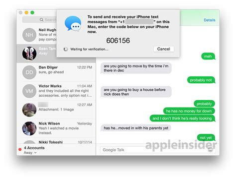 connect iphone messages to mac how to send and receive sms text messages in os x yosemite