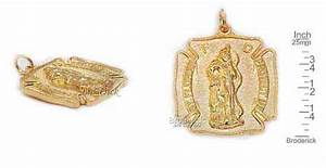 Gold over Pewter St. Florian Medal. This medal is 25x25mm ...