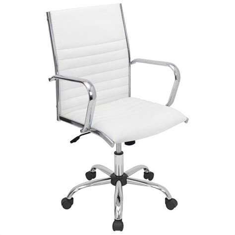 white desk chair walmart lumisource master office chair in white ofc ac mstr w