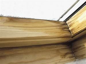 Schwarzer Schimmel Fassade Entfernen : schimmel entfernen holz dachfenster lasieren lackieren bei wasserschaden haus holz schimmel ~ Watch28wear.com Haus und Dekorationen