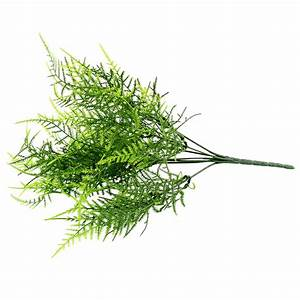 Plastic Green 7 Stems Artificial Asparagus Fern Grass ...