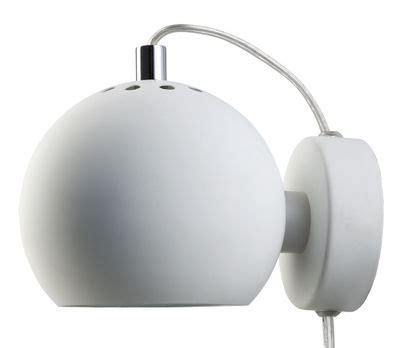 wall light  plug ball  frandsen white   design uk