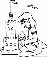 Coloring Sandcastle Coloringpages101 Holidays Pages sketch template