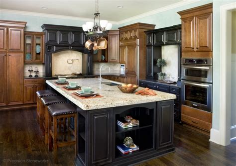 kitchen island with granite countertop precision stoneworks