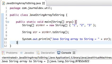 java string template java string array to string journaldev
