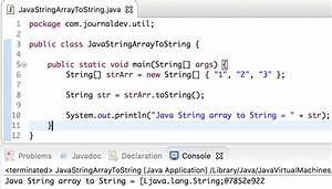 java string array to string journaldev With java string template