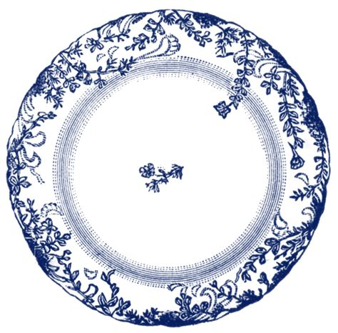 vintage clip antique china plate 4 options the