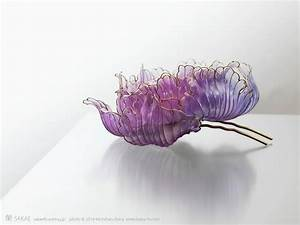Exquisite japanese floral hair ornaments handcrafted from for New japanese floral hair ornaments handcrafted from resin by sakae