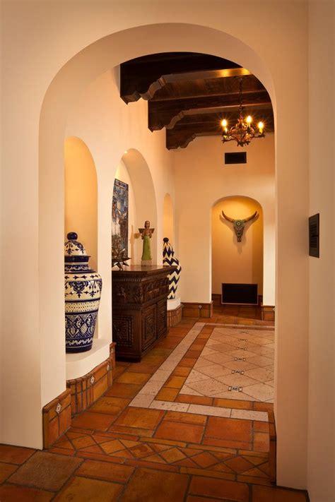 terracotta floor tile entry southwestern  blue