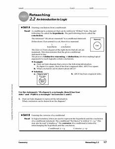 An Introduction To Logic Worksheet For 10th Grade