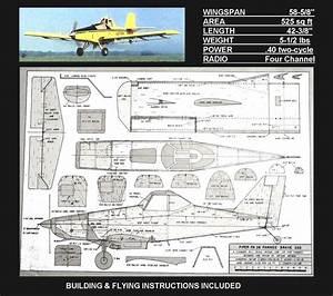 Rc Plans  U0026 Instructions Piper Pa36 Pawnee Brave 300
