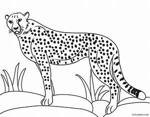Printable Cheetah Coloring Pages For Kids