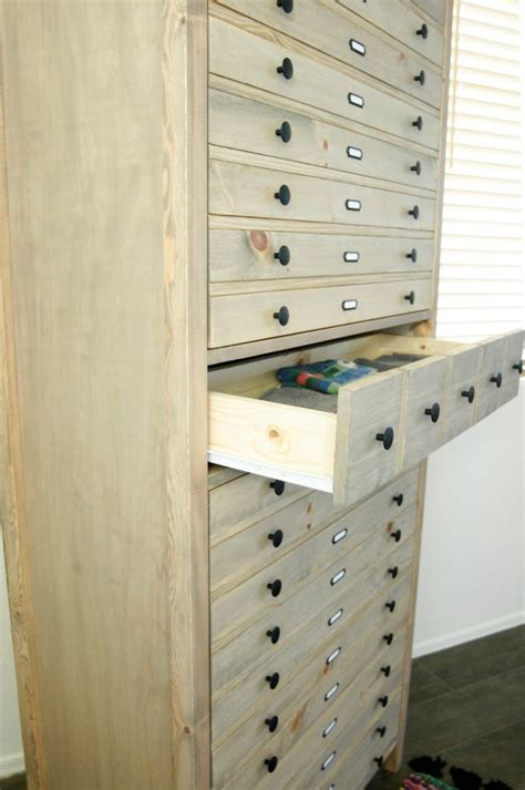 vintage inspired diy tall printers cabinet shelterness